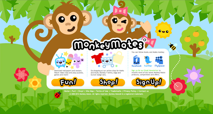 Monkey Mates website homepage image