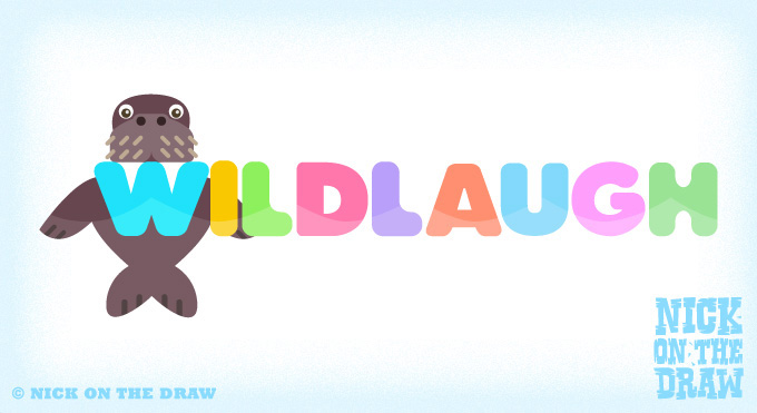 Russ the walrus on the wildlaugh logo